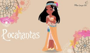 Disney Princess Young ~ Pocahontas by miss-lollyx-33