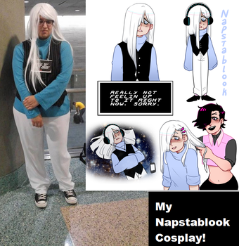 My Cosplay Anime Expo 2016 ~ Napstablook! by JeanLuz