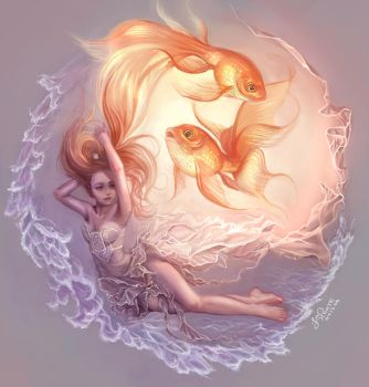 Goldfish Princess by YummyKitty