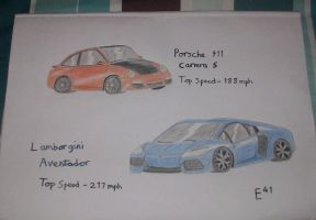 Lamborgini Aventador and Porsche 911 by Shay-Tank-Dragon-41