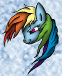 Rainbow Dash - Portrait Sketch Series by AncientOwl