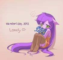 Lonely Valentine's Day by yan531
