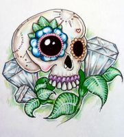 Candy Skull Diamonds by ponychops