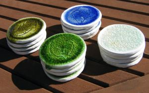 Recycled Glass Coasters by Verdego