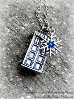 Custom 3D Tardis Pendant- Available 11-21-14 by ArtByStarlaMoore