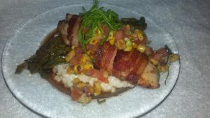 Bacon-Wrapped Tilapia w/Risotto by FutureChefHaku