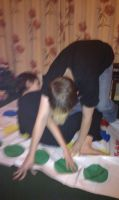 Playing Twister with the Family 4 by demon1993