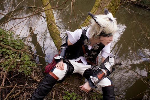 Miqo'te FFXIV Forest Stand by AltriaCosplay