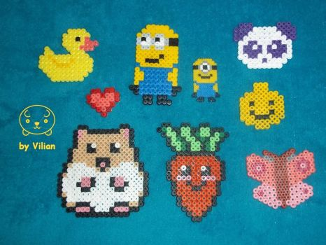 My first Hama beads creations by VilDeviant