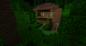 Minecraft Jungle Hut by Cosmic155