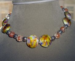 impressionist necklace by merpagigglesnort