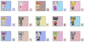 Animal Crossing Pixel Avatars- Bears by Maareep