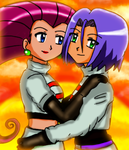 Jessie and James in the sunset by Maaiika2003