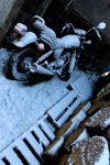 Motorcycle covered in snow by FurbinatorZ
