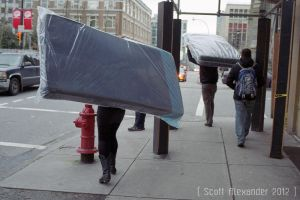 Two ways to carry a mattress.. by straightfromcamera