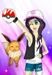 EllyChanCosplay and her Eevee by Ccjay25