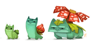 DAY 439. Bulbasaur Line by Cryptid-Creations