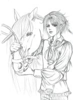 Horse sketch by Nanase-ko