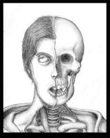 Selfportrait and Skull by Shinra-sanne