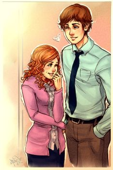 Jim and Pam by DreamerWhit