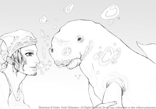 Conversation with Mr Dugong by aquaxningyo