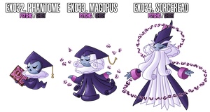 Fakemon: EX32 - EX34 by MTC-Studio