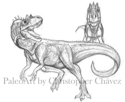 Sketch Allosaurus. by Christopher252