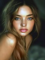 Miranda Kerr Digital Portrait II by vannenov