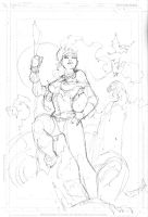 Rogue X-Men pencil layout by jimlee00