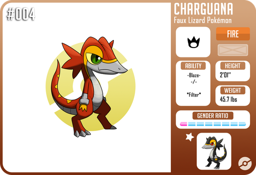 #004 Charguana :Fakemon: by Spitfire740
