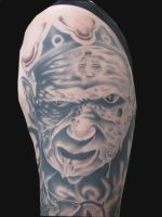 Zombie Pope Tattoo by BarryHynesArt