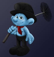 Sweepy Smurf - Movie Style by Shini-Smurf