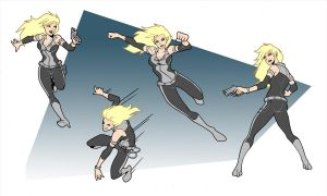 X-Girl -Animation Action Poses by Elisa-Feliz