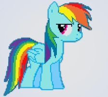 Minecraft Rainbow Dash Pixel Art by WizE-KevN