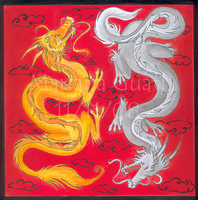 Chinese dragons by Kyrara