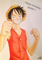 Monkey D Luffy - Gift For Yahik0 by TobeyD