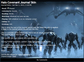 Halo Covenant Journal Skin by Halo-Yokoshima
