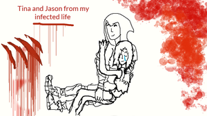 Tina and Jason from my infected life by jasongreen