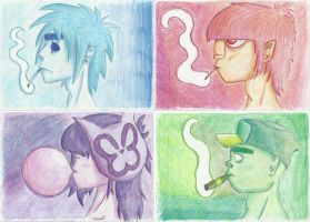 Gorillaz in Colours by Guldl0k