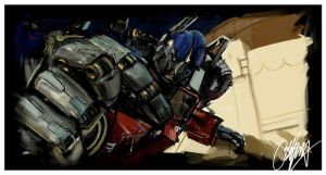 Transformers Painting by kyle-lambert