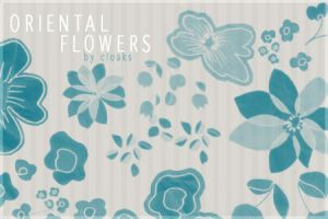 Oriental Flowers by cloaks
