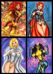 JEAN GREY EMMA FROST AND X23 SKETCH CARDS by AHochrein2010