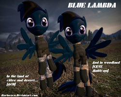 MLP OC: Blue Lambda in Military style by MarineACU