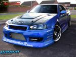 nissan skyline front by mateus12345