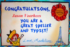 Congrats Jason Voorhees XD by Criss-Angel-lover