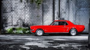 Mustang Coupe Side by AmericanMuscle