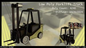 Low Poly ForkLift Truck by Cronoman66
