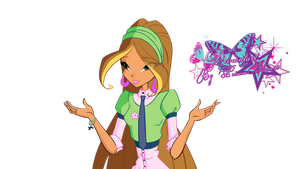 Winx Club Flora Fairy School 7 season - PNGs! by PrincessBloom93
