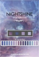Nightshine | Styles and swatches | Pack by CeciiDeRose