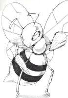 Beedrill lineart by Bekuhz
